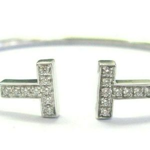 Tiffany & Co Tiffany T Wire Diamond Bracelet 18Kt